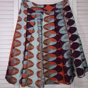 Anthropologie HD silk skirt